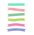 cute set ribbons design vector image vector image