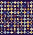 dark stylized leaf mosaic seamless pattern