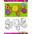 easter chick cartoon for coloring vector image vector image