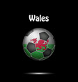 flag of wales in the form of a soccer ball vector image vector image