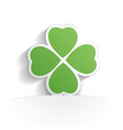 four leaf clover icon paper vector image vector image