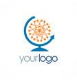 globe molecul connect logo vector image