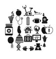 good health icons set simple style vector image vector image