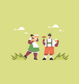 guy eating sausage and drinking beer oktoberfest vector image