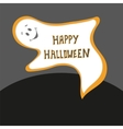 happy halloween card scary ghost poster vector image vector image
