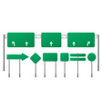 highway green road signs blank signage boards set vector image