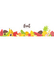 horizontal banner template with fresh organic vector image vector image