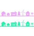 horizontal seamless pattern homes vector image