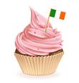 Irish Cupcake vector image vector image