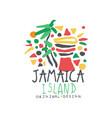 jamaica island logo template original design vector image vector image