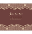 lace on brown background vector image vector image