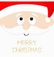 merry christmas santa claus head face looking up vector image vector image