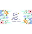 mothers day watercolor spring flower spanish card vector image vector image