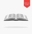 Open bible icon Flat design gray color symbol vector image