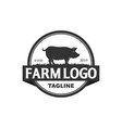 pork logo designs vector image