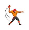 quarterback player american football sport game vector image