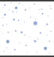 realistic snowflakes vector image