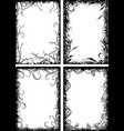 set of four frames in grunge style vector image