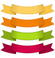 set of four multicolor ribbons and banners vector image vector image