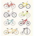 Set of retro bicycle vector image
