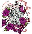 Skull Rose Design Art vector image