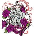 Skull Rose Design Art