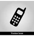 Smartphone icon on grey background vector image vector image