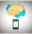 smartphone with cloud vector image