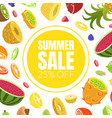 summer sale banner template with fresh delicious