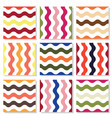 summer wavy seamless pattern set colors the vector image