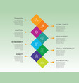 teamwork infographics design timeline concept vector image vector image