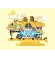 Texas police flat style vector image vector image