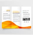 tri fold brochure design corporate business vector image vector image