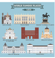 Turin famous places vector image vector image