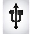 usb icon design vector image