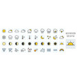 weather forecast filled line icons set vector image vector image