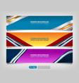web banner header design vector image vector image