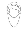woman face icon vector image vector image