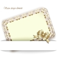 elegant card for your invitations and greetings vector image