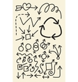 Doodle Arrow Hand Drawing Symbols vector image