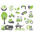 Green planet symbols vector image