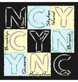 NYC print design vector image