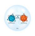 antioxidant working principle abstract vector image