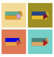 assembly flat icons ukrainian flag vector image vector image