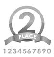 Award badge silver vector image