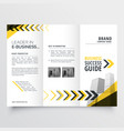 awesome tri fold brochure design in yellow black vector image vector image