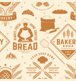 bakery shop seamless pattern or background vector image
