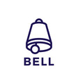 bell logo icon vector image vector image