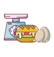breakfast food cartoons vector image