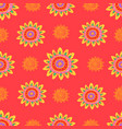bright ethnic decorative abstract flowers seamless vector image vector image